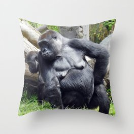 What Are You Doing Throw Pillow