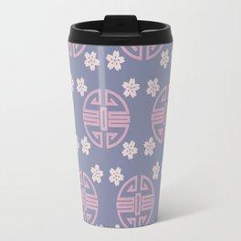 Pastel Oriental Pattern Travel Mug