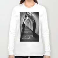 cycling Long Sleeve T-shirts featuring No Cycling by Dawn OConnor
