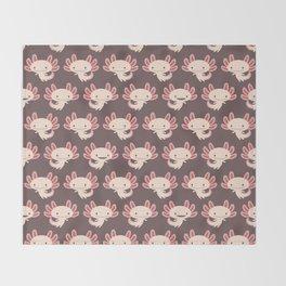 Cute axolotls Throw Blanket