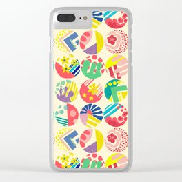 Abstract circle fun pattern Clear iPhone Case