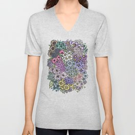 A Bevy of Blossoms Unisex V-Neck
