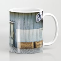 bathroom Mugs featuring Bathroom Doors by Agrofilms