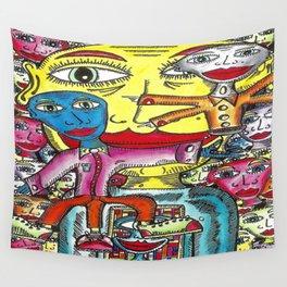 Viggo Vake  Mirror People 2016 Wall Tapestry