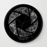 aperture Wall Clocks featuring Traveling Lens by Tobe Fonseca