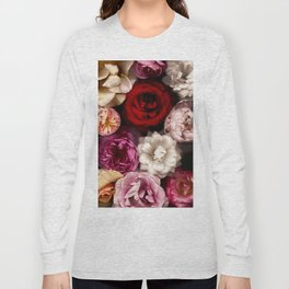 Pink, White, and Red Roses Long Sleeve T-shirt