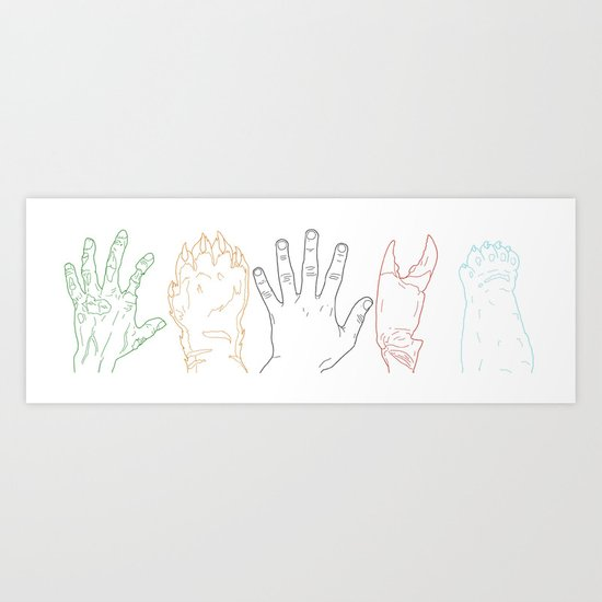 Hands are all the same Art Print