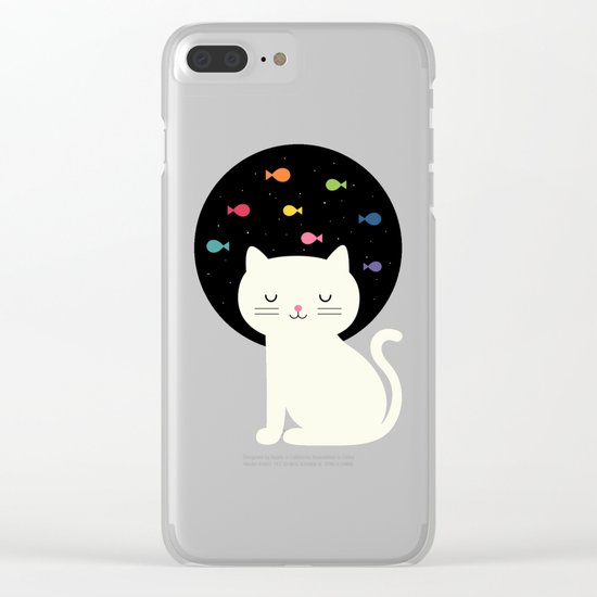 Cats Fantasy Clear iPhone Case