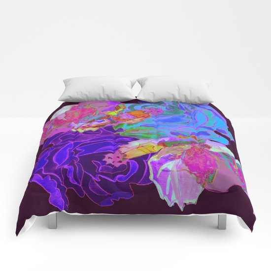 roses meli melo 2 Comforters
