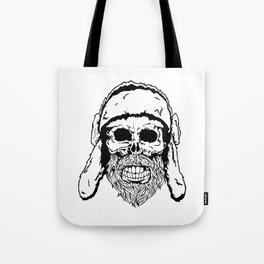 Skull with winter hat Tote Bag