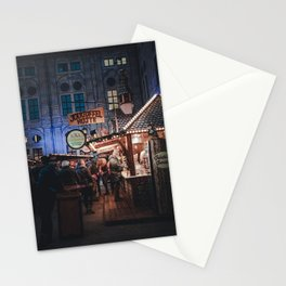 Christmas market Stationery Cards