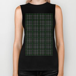 Dotted Grid Weave Green Biker Tank