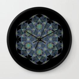Smoke Plume Mandala Wall Clock