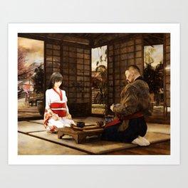 """The Way of Tea"" (Japanese Tea Ceremony) Art Print"