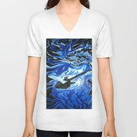 grateful dead V-neck T-shirts featuring Jerry Garcia Blues Acrylic Painting Grateful Dead by Acorn