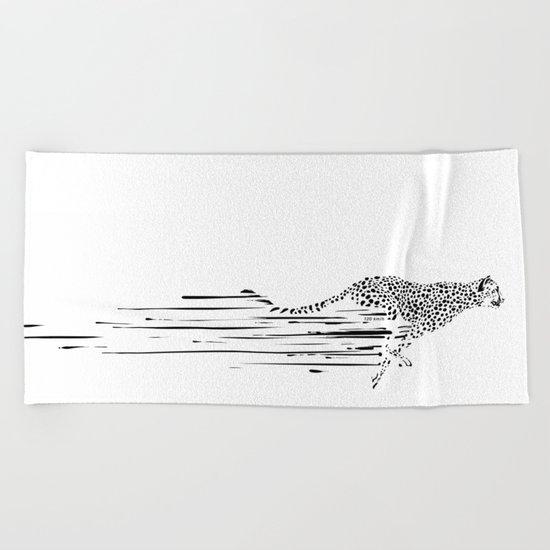 120km/h // (cheetah) Beach Towel