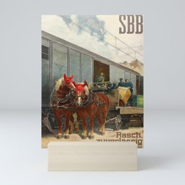 Affiche  Railway Poster Swiss Federal Railways SBB Quickly Reliably Home Mini Art Print
