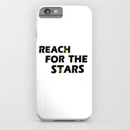 Reach For the Stars Digital Text Design iPhone Case