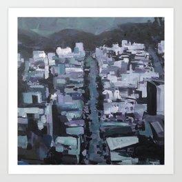 Blue San Francisco Art Print