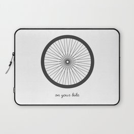 On your bike Laptop Sleeve