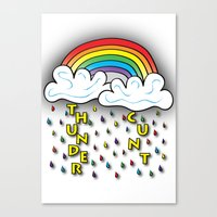 cunt Canvas Prints featuring Cunt Storm by The Weirdoll Effect