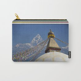 BOUDHANATH AND MACHAPUCHARE NEPAL COMPOSITE Carry-All Pouch