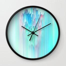 Rainbow Cascade Glitch Wall Clock