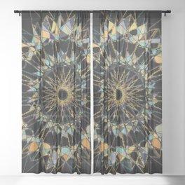 black celtic spiro Sheer Curtain