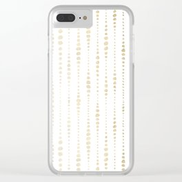 NYC Nights Gold Polka Dot Stripes Clear iPhone Case