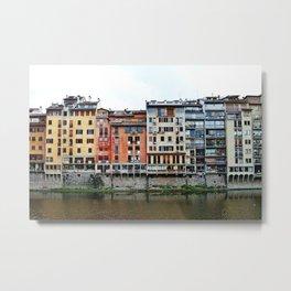 Florence: Arno River Metal Print