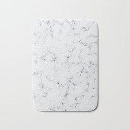 Baesic White Marble Texture Bath Mat