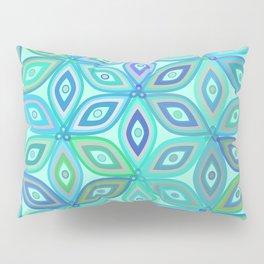 Mint floral pattern Pillow Sham