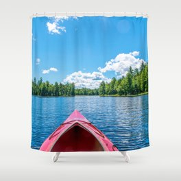 Just Keep Paddling Shower Curtain