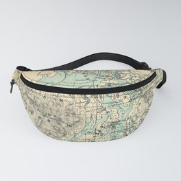 Vintage Map of The Puget Sound (1883) Fanny Pack