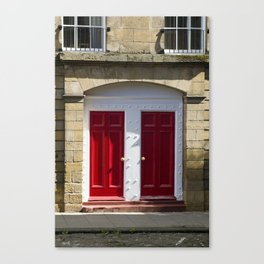 Red Doors Canvas Print