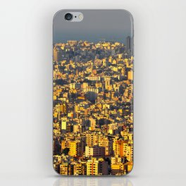 Beirut sunset iPhone Skin
