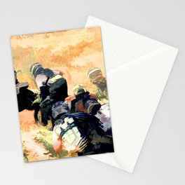Leading the Pack  - Motocross Racers Stationery Cards
