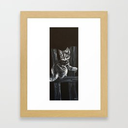 CAT1, PIANO COMPOSITION, kitty, small cat Framed Art Print