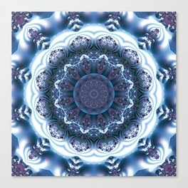 Snow Mandala Canvas Print