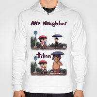 snk Hoodies featuring SNK-My neighbor titan by Mimiblargh