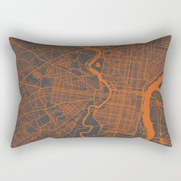 Philadelphia 2 map orange Rectangular Pillow