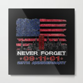 Never Forget 09.11.01 20th Anniversary Metal Print