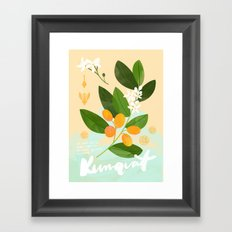 Botanical Diagram: Kumquat Framed Art Print
