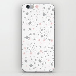 Stars silver and blush iPhone Skin