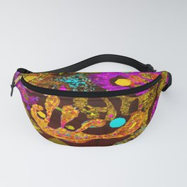 Pink Orange Modern Abstract Low Poly Geometric After Kandinsky Fanny Pack