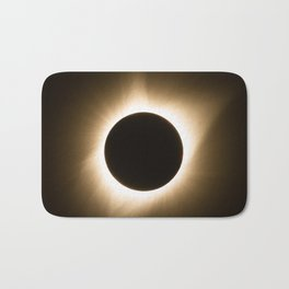 Totality - 2017 Total Solar Eclipse with Golden Corona Bath Mat