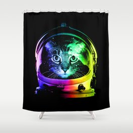 Astronaut Cat Shower Curtain