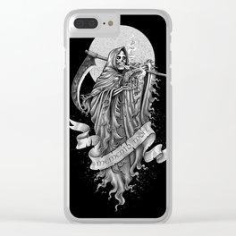 Memento mori (b/w version) Clear iPhone Case
