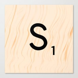 Scrabble Letter S - Large Scrabble Tiles Canvas Print
