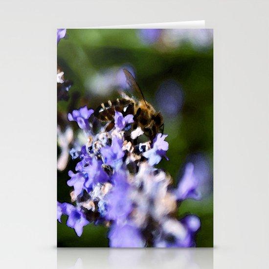Bee on lavander Stationery Cards